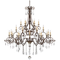St. Laurence 24 Light 66 inch New Tortoise Shell with Silver Chandelier Ceiling Light