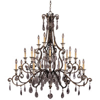 St. Laurence 20 Light 52 inch New Tortoise Shell with Silver Chandelier Ceiling Light