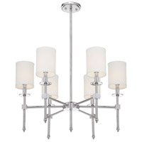 Savoy House 1-305-6-109 Chatham 6 Light 28 inch Polished Nickel Chandelier Ceiling Light alternative photo thumbnail