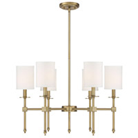 Chatham 6 Light 28 inch Warm Brass Chandelier Ceiling Light