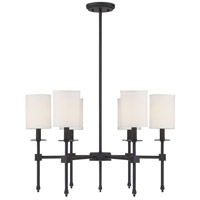 Savoy House 1-305-6-89 Chatham 6 Light 28 inch Matte Black Chandelier Ceiling Light