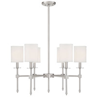 Savoy House 1-305-6-SN Chatham 6 Light 28 inch Satin Nickel Chandelier Ceiling Light