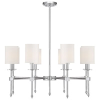 Savoy House 1-306-8-109 Chatham 8 Light 34 inch Polished Nickel Chandelier Ceiling Light