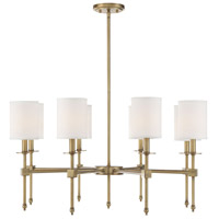 Savoy House 1-306-8-322 Chatham 8 Light 32 inch Warm Brass Chandelier Ceiling Light