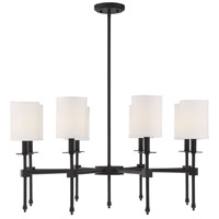 Savoy House 1-306-8-89 Chatham 8 Light 32 inch Matte Black Chandelier Ceiling Light