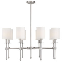 Savoy House 1-306-8-SN Chatham 8 Light 32 inch Satin Nickel Chandelier Ceiling Light