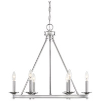 Savoy House 1-307-6-109 Middleton 6 Light 25 inch Polished Nickel Chandelier Ceiling Light