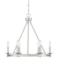 Savoy House 1-307-6-SN Middleton 6 Light 25 inch Satin Nickel Chandelier Ceiling Light