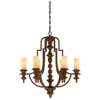 Savoy House Castillo 6 Light Chandelier in Midland Bronze 1-3070-6-65