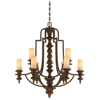 Castillo 9 Light 34 inch Midland Bronze Chandelier Ceiling Light