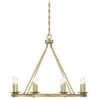Savoy House 1-308-8-322 Middleton 8 Light 33 inch Warm Brass Chandelier Ceiling Light