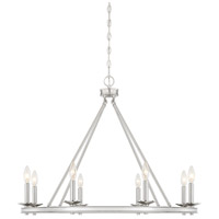 Savoy House 1-308-8-SN Middleton 8 Light 33 inch Satin Nickel Chandelier Ceiling Light