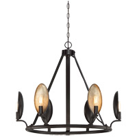 Prado 6 Light 29 inch Oiled Bronze Chandelier Ceiling Light