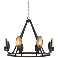 Prado 8 Light 35 inch Oiled Bronze Chandelier Ceiling Light