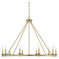 Middleton 10 Light 45 inch Warm Brass Chandelier Ceiling Light