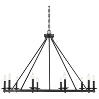 Middleton 10 Light 45 inch Matte Black Chandelier Ceiling Light