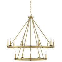 Middleton 15 Light 45 inch Warm Brass Chandelier Ceiling Light