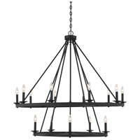 Savoy House 1-312-15-89 Middleton 15 Light 45 inch Matte Black Chandelier Ceiling Light