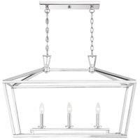 Townsend 3 Light 32 inch Polished Nickel Trestle Ceiling Light