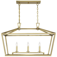 Savoy House 1-323-3-322 Townsend 3 Light 32 inch Warm Brass Linear Chandelier Ceiling Light