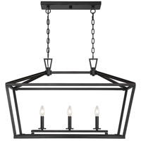 Savoy House 1-323-3-44 Townsend 3 Light 32 inch Classic Bronze Linear Chandelier Ceiling Light