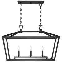 Savoy House 1-323-3-89 Townsend 3 Light 32 inch Matte Black Trestle Ceiling Light