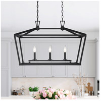 Savoy House 1-323-3-89 Townsend 3 Light 32 inch Matte Black Linear Chandelier Ceiling Light alternative photo thumbnail