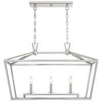 Savoy House 1-323-3-SN Townsend 3 Light 32 inch Satin Nickel Trestle Ceiling Light