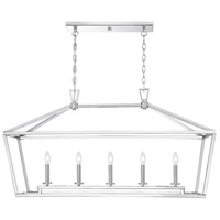 Savoy House 1-324-5-109 Townsend 5 Light 44 inch Polished Nickel Linear Chandelier Ceiling Light