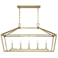 Savoy House 1-324-5-322 Townsend 5 Light 44 inch Warm Brass Linear Chandelier Ceiling Light
