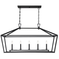 Savoy House 1-324-5-89 Townsend 5 Light 44 inch Matte Black Linear Chandelier Ceiling Light