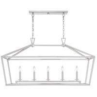 Savoy House 1-324-5-SN Townsend 5 Light 44 inch Satin Nickel Linear Chandelier Ceiling Light