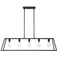 Savoy House 1-327-5-44 Denton 5 Light 45 inch Classic Bronze Linear Chandelier Ceiling Light