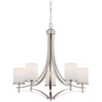 Colton 5 Light 26 inch Satin Nickel Chandelier Ceiling Light