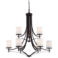 Colton 9 Light 33 inch English Bronze Chandelier Ceiling Light