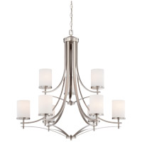 Colton 9 Light 33 inch Satin Nickel Chandelier Ceiling Light