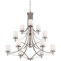 Colton 12 Light 40 inch Satin Nickel Chandelier Ceiling Light