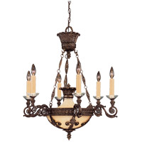 Savoy House Corsica 6 Light Chandelier in New Tortoise Shell 1-3410-6-56