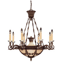 Savoy House Corsica 8 Light Chandelier in New Tortoise Shell 1-3411-8-56