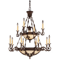 Corsica 12 Light 38 inch New Tortoise Shell Chandelier Ceiling Light