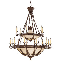 Savoy House Corsica 18 Light Chandelier in New Tortoise Shell 1-3416-18-56