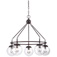 Savoy House 1-350-5-13 Argo 5 Light 25 inch English Bronze Chandelier Ceiling Light