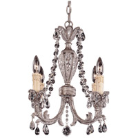 Savoy House Signature 4 Light Chandelier in Distressed Silver 1-3742-4-47