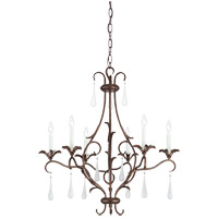 Savoy House Roschella 6 Light Chandelier in Guilded Bronze 1-3800-6-131