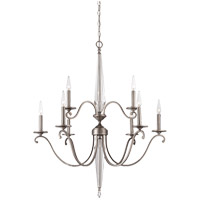 Kendall 9 Light 32 inch Vintage Nickel Chandelier Ceiling Light