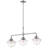 Savoy House 1-392-3-11 Fairfield 3 Light 37 inch Polished Chrome Trestle Ceiling Light alternative photo thumbnail