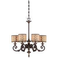 Savoy House Windsor 6 Light Chandelier in Fiesta Bronze with Gold Highlights 1-3950-6-124