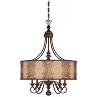 Savoy House Windsor 5 Light Chandelier in Fiesta Bronze with Gold Highlights 1-3951-5-124 photo thumbnail