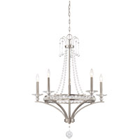 Savoy House 1-400-5-SN Alana 5 Light 27 inch Satin Nickel Chandelier Ceiling Light