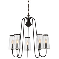 Oleander 5 Light 25 inch English Bronze Outdoor Chandelier